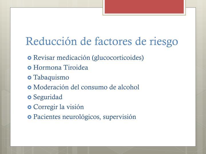 Reducción de factores de riesgo