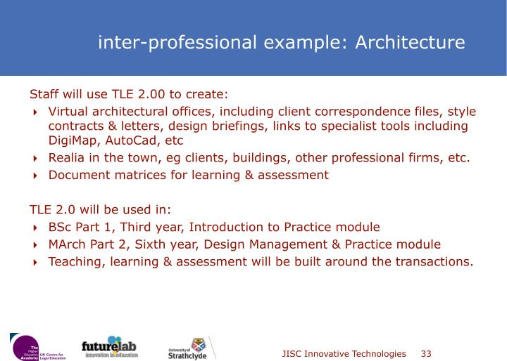 Staff will use TLE 2.00 to create:
