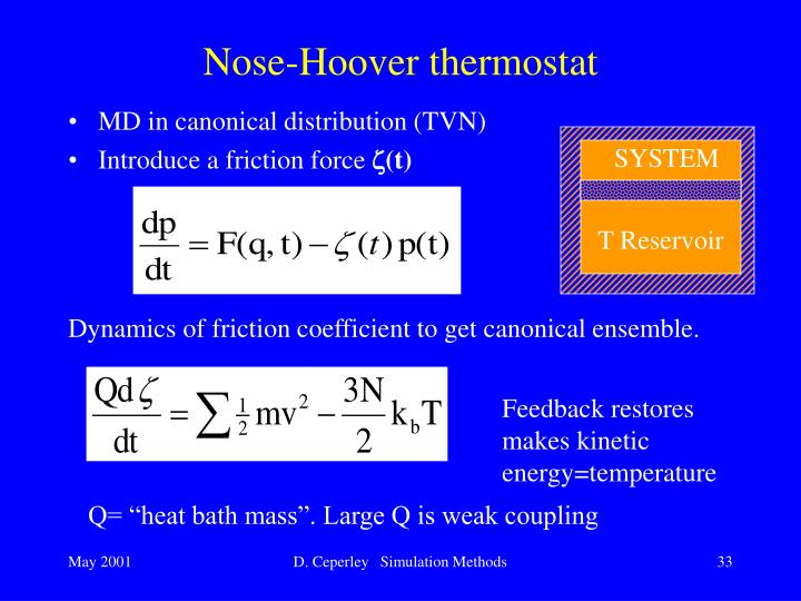 Nose-Hoover thermostat