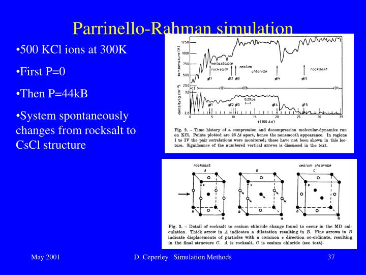 Parrinello-Rahman simulation