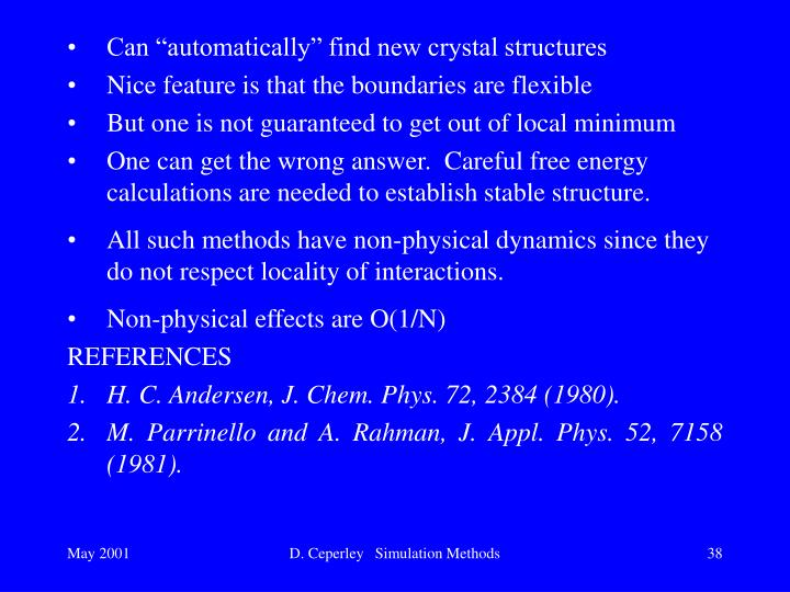 "Can ""automatically"" find new crystal structures"