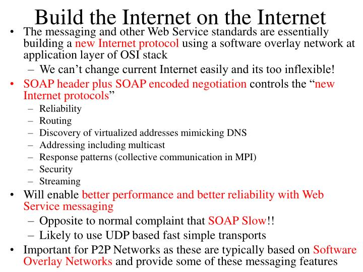 Build the Internet on the Internet