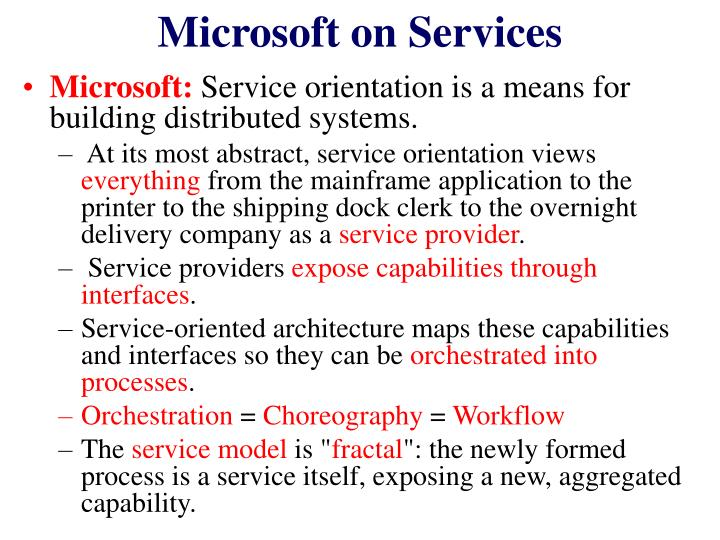 Microsoft on Services