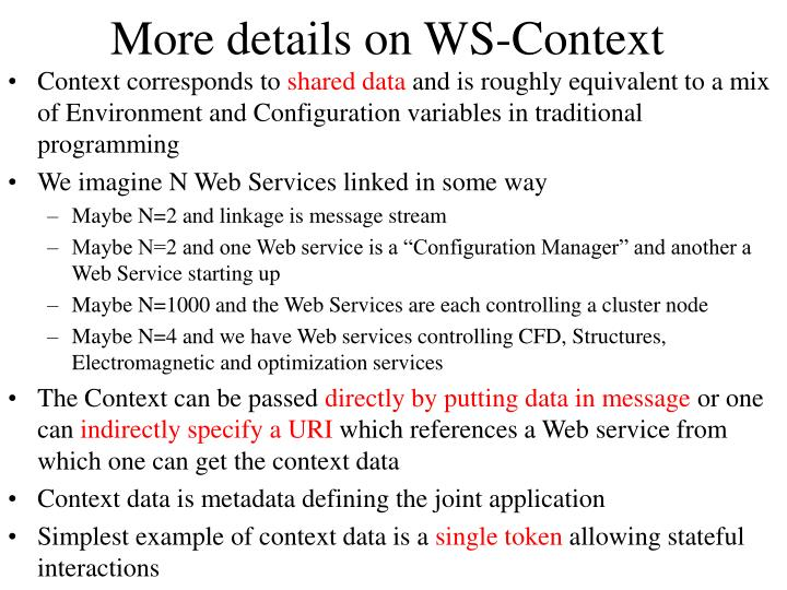 More details on WS-Context