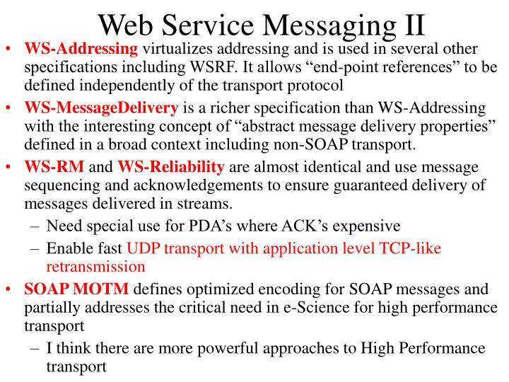 Web Service Messaging II