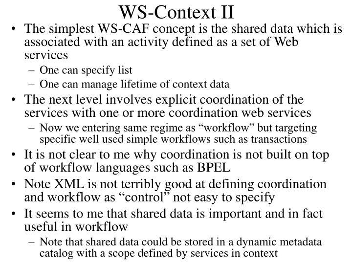 WS-Context II