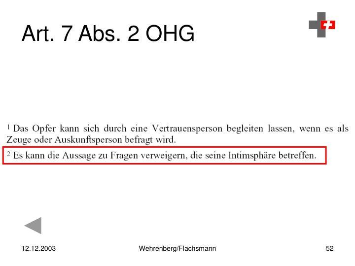 Art. 7 Abs. 2 OHG