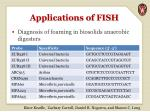 applications of fish