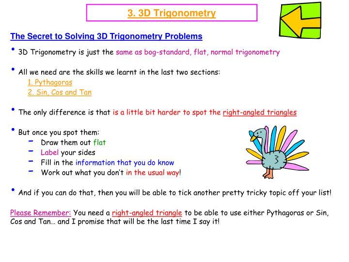 3 3d trigonometry