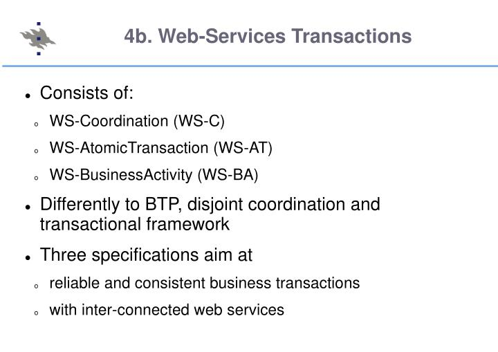 4b. Web-Services Transactions