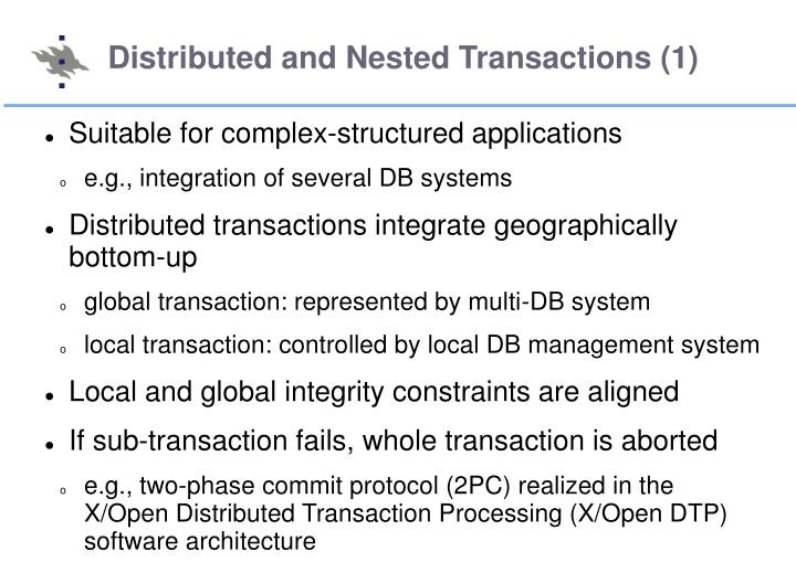 Distributed and Nested Transactions (1)