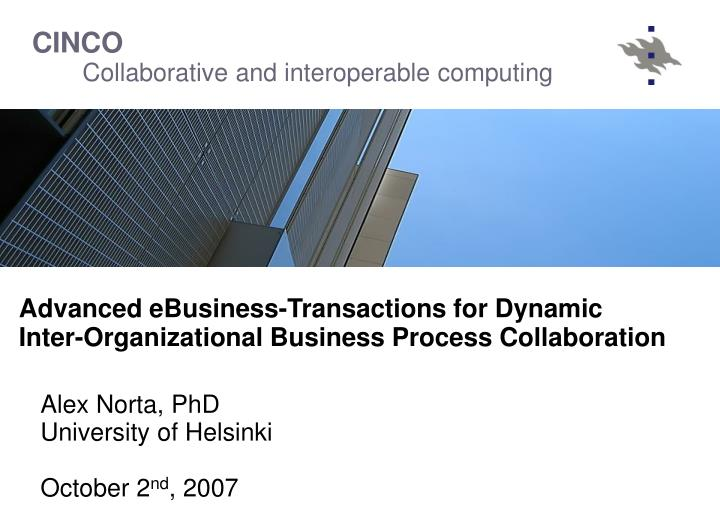 Advanced eBusiness-Transactions for Dynamic