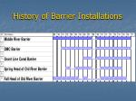 history of barrier installations