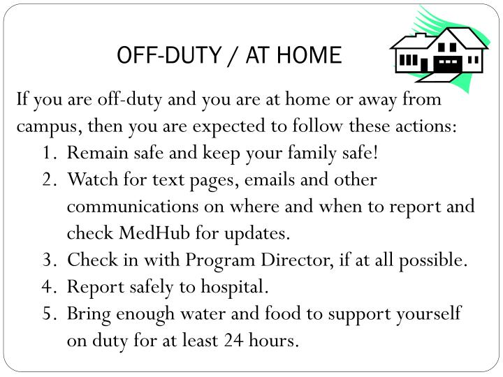 OFF-DUTY / AT HOME