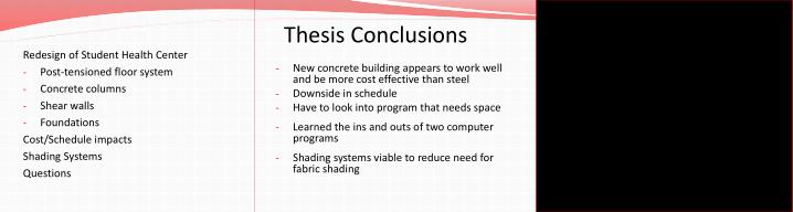 Thesis Conclusions