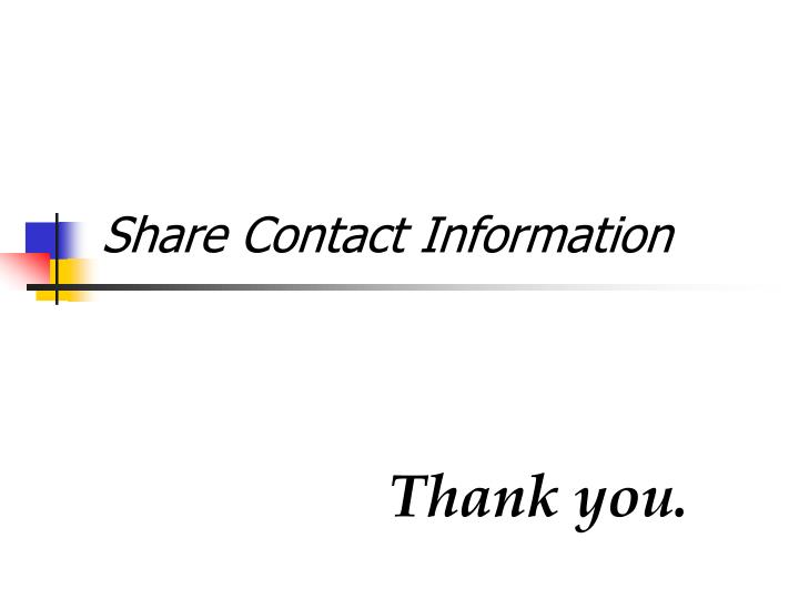 Share Contact Information