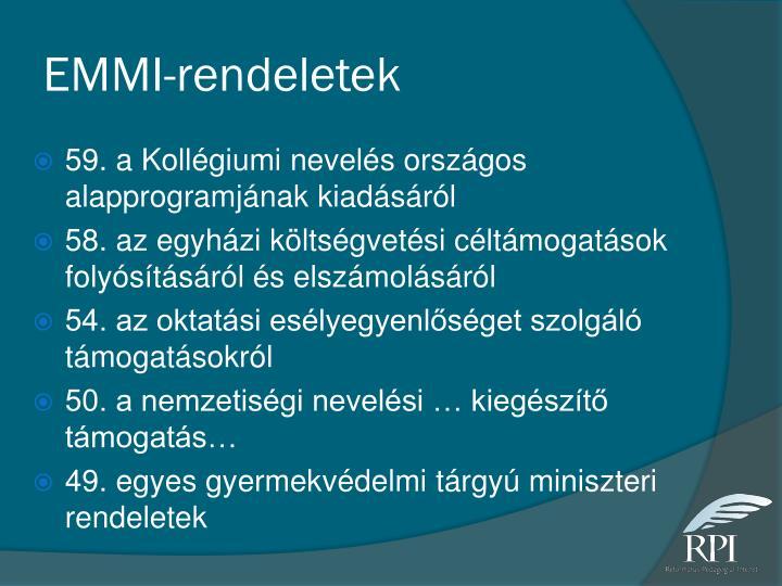 EMMI-rendeletek