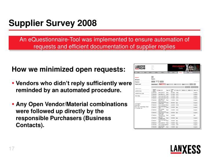 Supplier Survey 2008