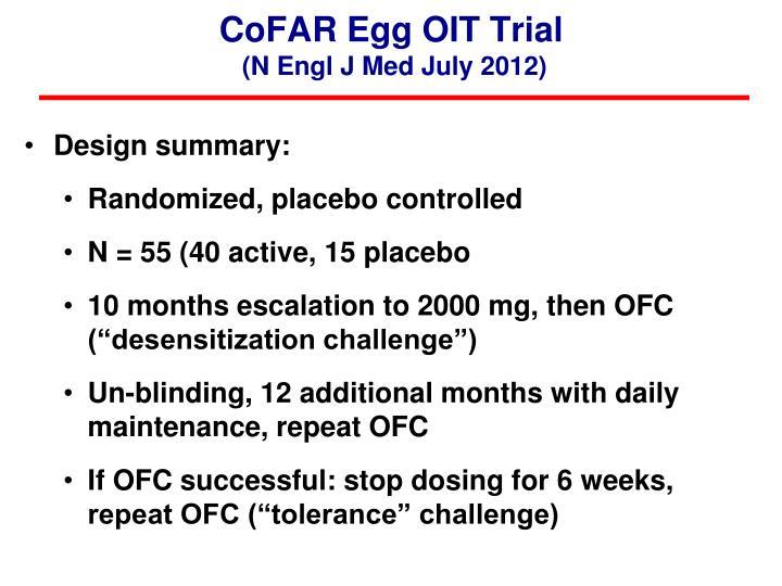 CoFAR Egg OIT Trial