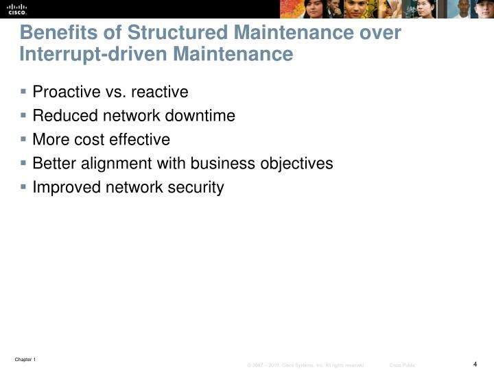 Benefits of Structured Maintenance over