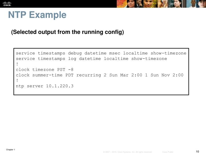 NTP Example