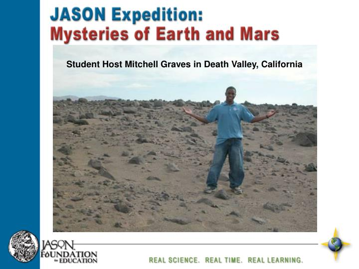Student Host Mitchell Graves in Death Valley, California