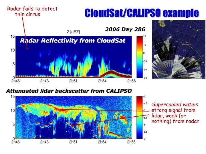 CloudSat/CALIPSO example