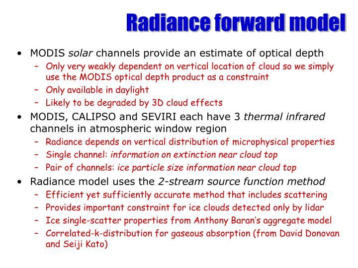 Radiance forward model