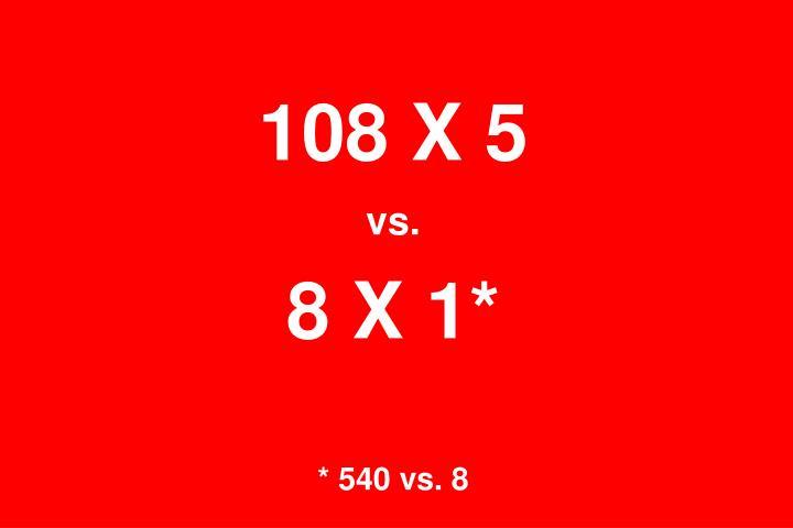 108 X 5
