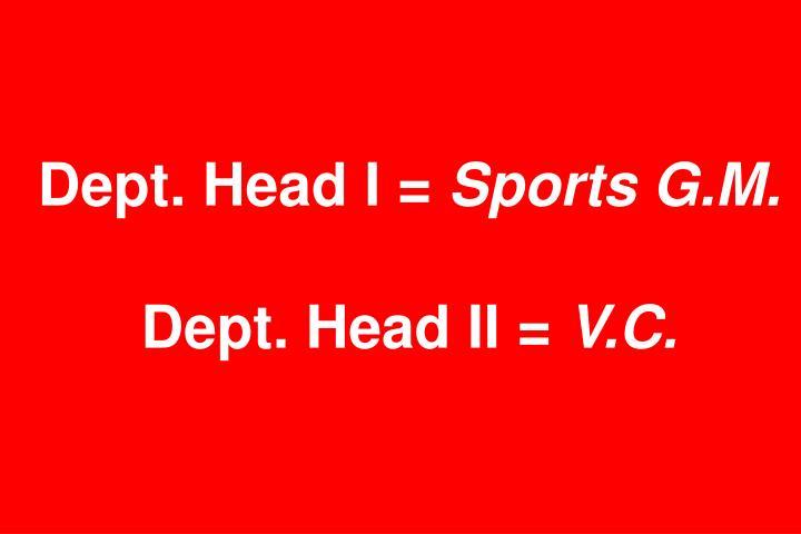 Dept. Head I =