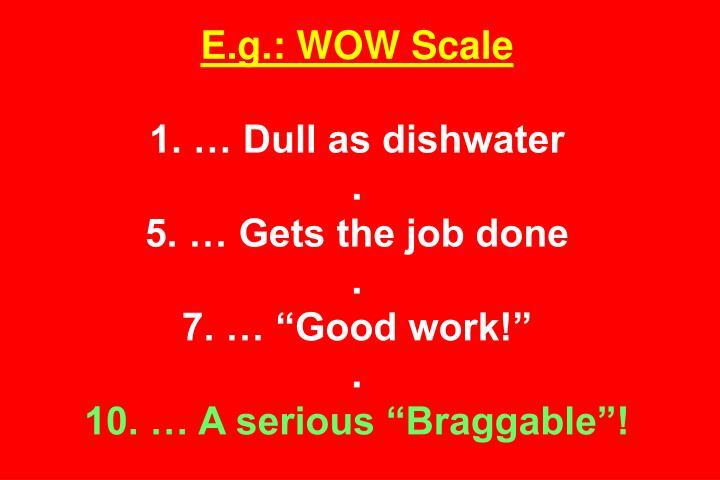 E.g.: WOW Scale