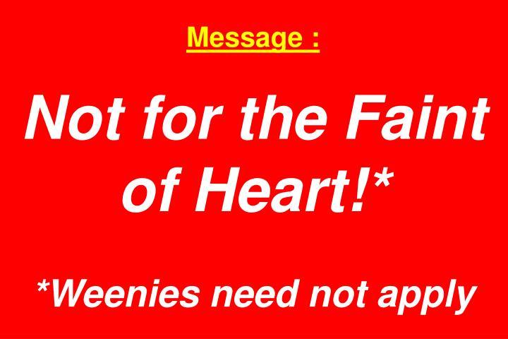 Message :