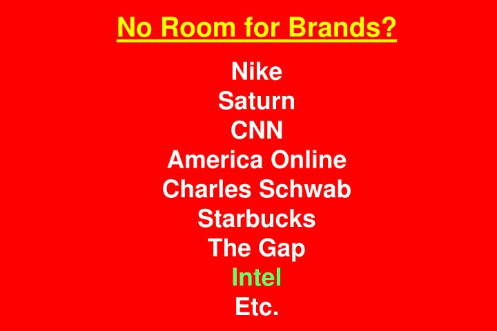 No Room for Brands?