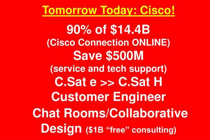 Tomorrow Today: Cisco!