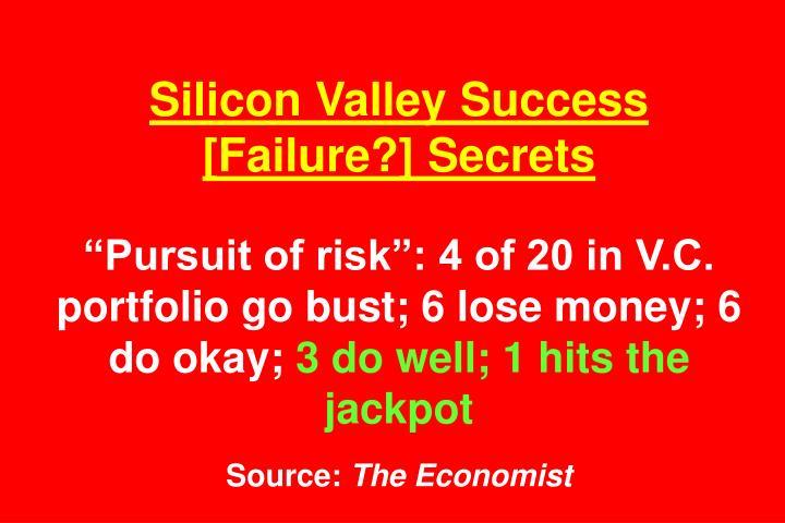 Silicon Valley Success [Failure?] Secrets