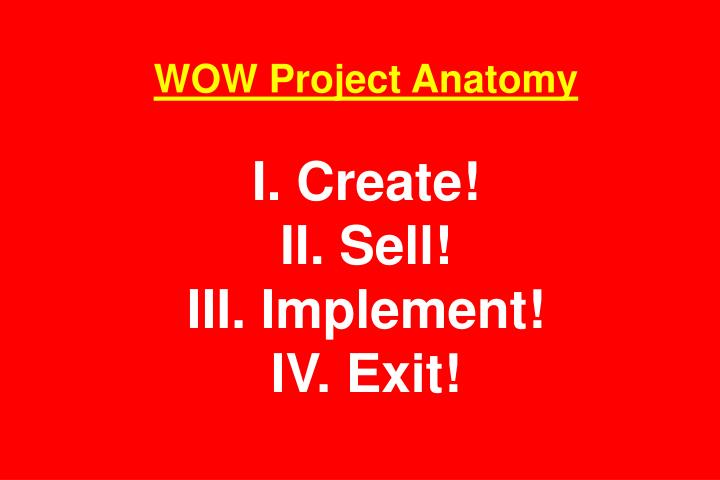 WOW Project Anatomy