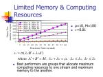limited memory computing resources