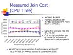 measured join cost cpu time