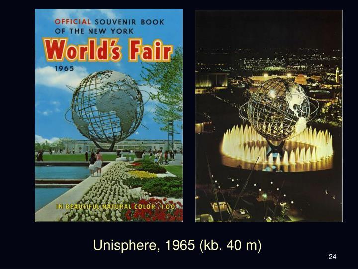 Unisphere, 1965 (kb. 40 m)