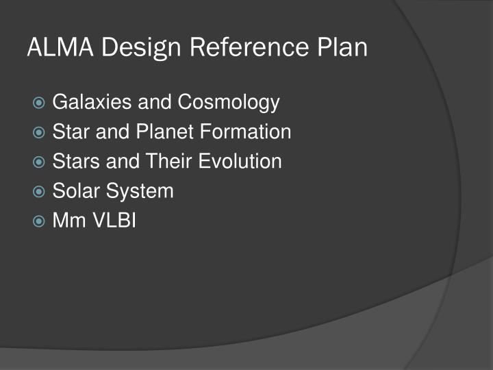 Alma design reference plan