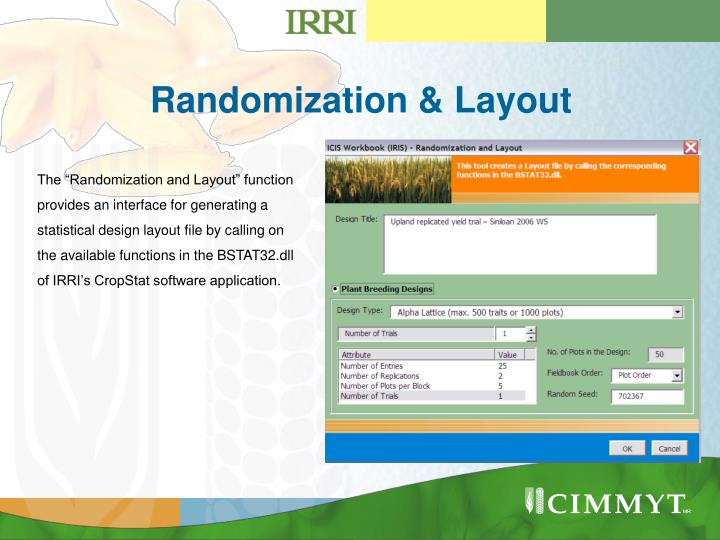 Randomization layout