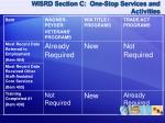 wisrd section c one stop services and activities1