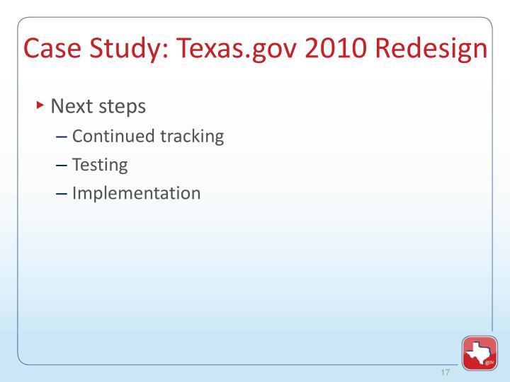 Case Study: Texas.gov 2010 Redesign