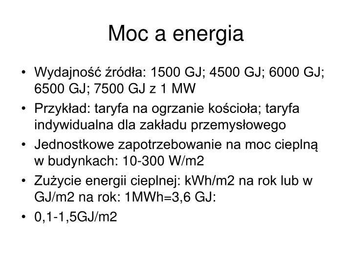 Moc a energia