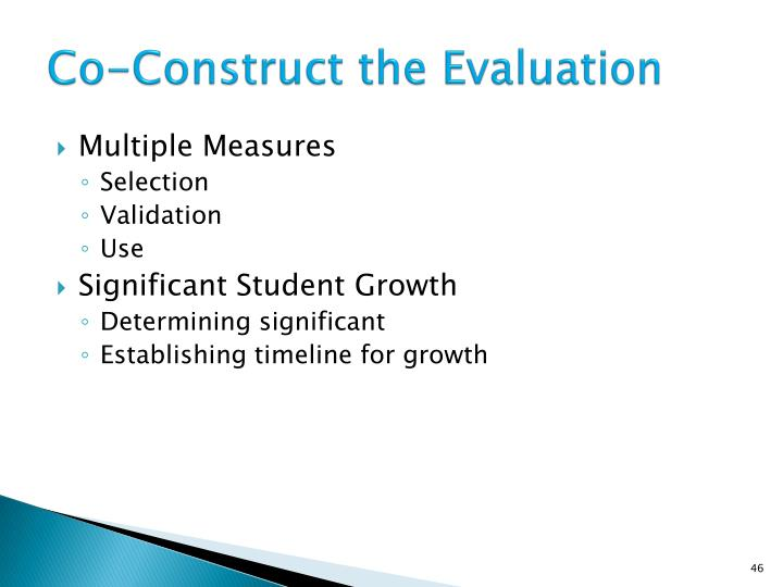 Co-Construct the Evaluation
