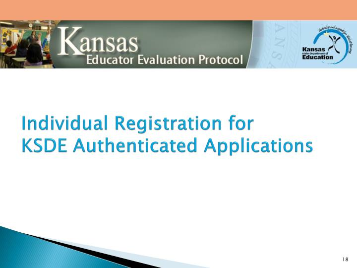 Individual Registration for