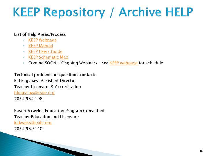 KEEP Repository /