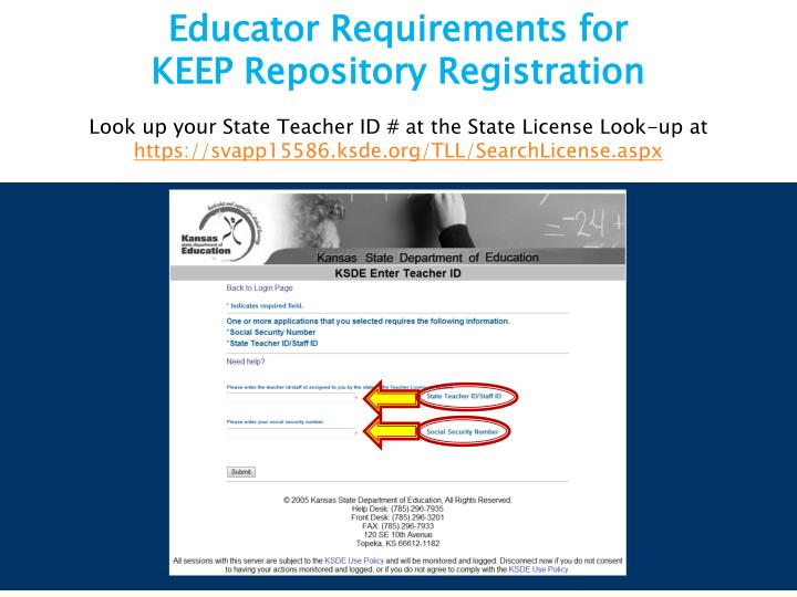 Educator Requirements for