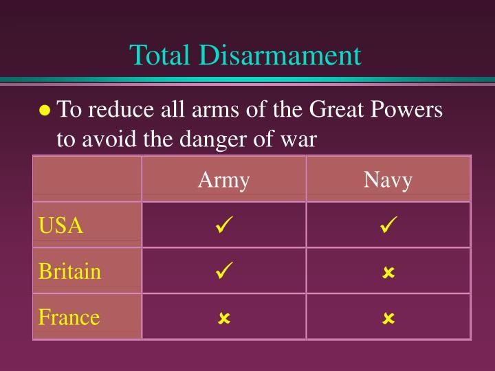 Total Disarmament