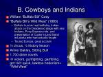 b cowboys and indians